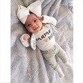 Новое прибытие Осень Зима стиль детская одежда детская одежда устанавливает мальчик Хлопка С Длинным рукавом 2 шт. костюм baby boy одежда новорожденный