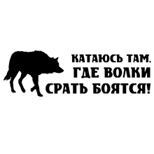 CK2086#30*9.6cm I ride where the wolves are afraid to shit! funny car sticker vinyl decal silver/black car auto stickers for car все цены