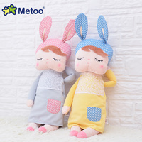 Metoo Hot Selling Sweet Cute Plush Stuffed Kawaii Kids Toys Angela Rabbit Animal Design For Girls