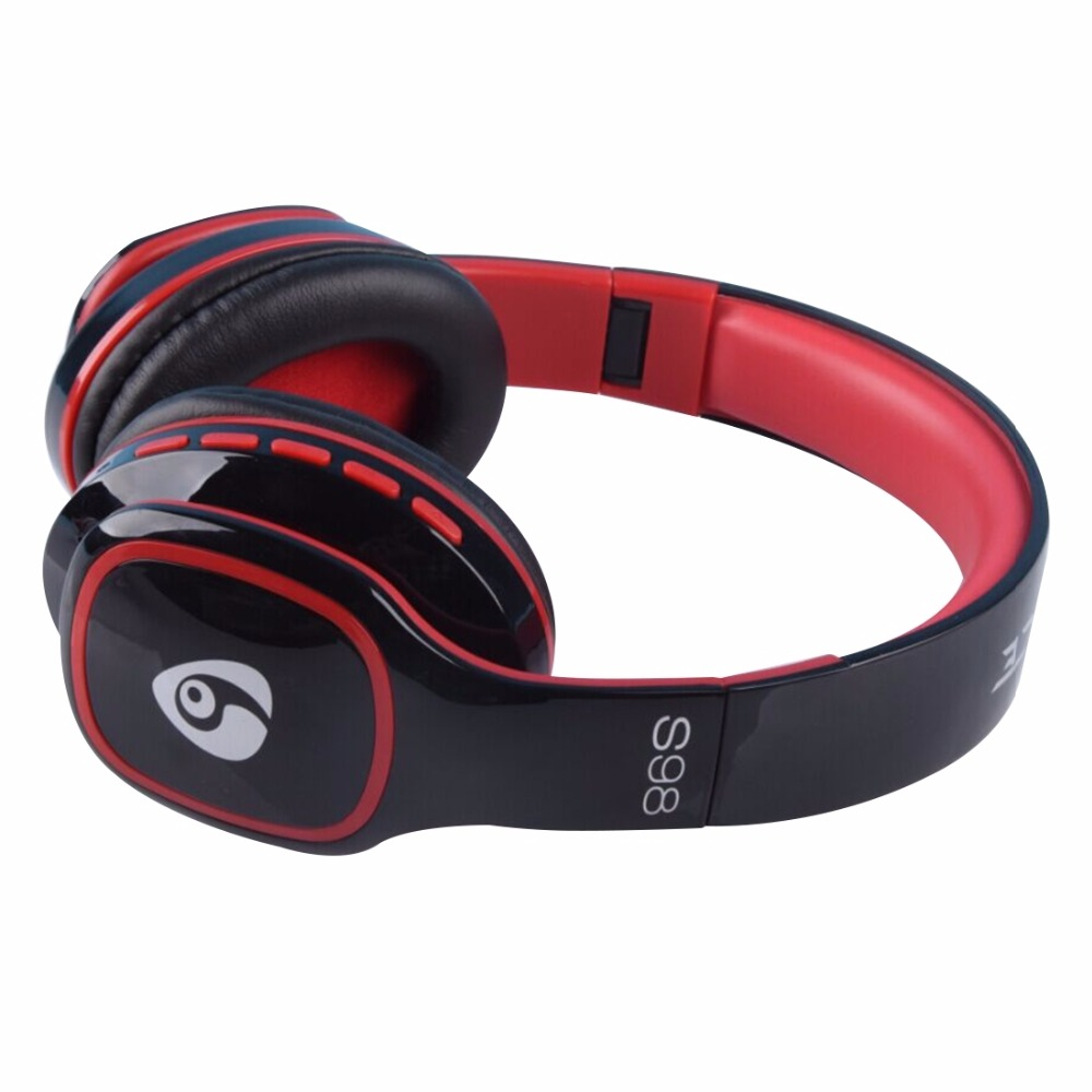 Desxz S98 Wireless Bluetooth Headphones Stereo FM Radio Hands-free Portable Noise Cancelling with Microphone TF Slot for Phone desxz b570 wireless headphones bluetooth handsfree stereo folding over ear with mic lcd fm radio tf slot for iphone phone