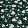 140X100cm Mickey Head Dark Green Background Cotton Fabric Baby Boy Clothes Sewing Bedding Set Bags Hometextile