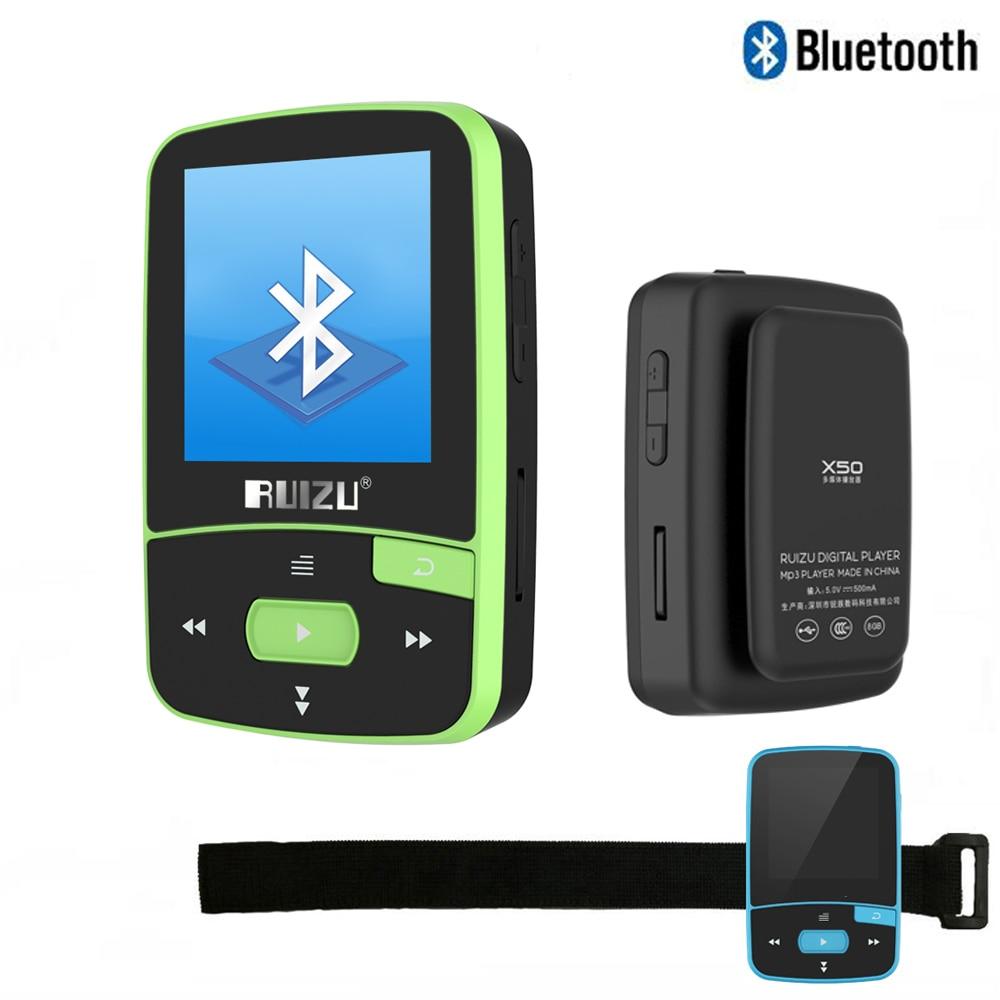 Mp3-player Aus Dem Ausland Importiert Mini Sport Walkman Clip Bluetooth Mp3 Player Original Ruizu X50 8 Gb Musik-player Unterstützung Tf Karte Fm Radio Stimme Aufnahme E-book