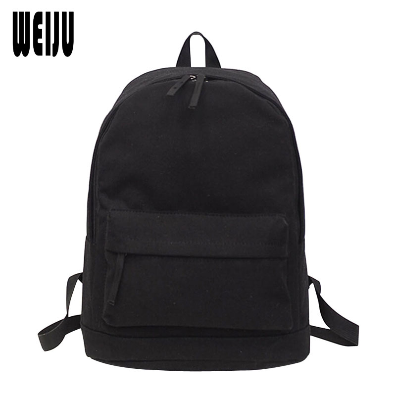 New 2017 Casual Women Backpacks Fashion Simple Korean Canvas Backpack Pure Preppy Style Ladies Backpacks 7 Colors YA0563 2017 new women fashion backpack casual