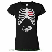 575e15b8 phiking Tee Pregnant Skeleton Womens T Shirt Funny Baby X Ray Gothic Mother  Child
