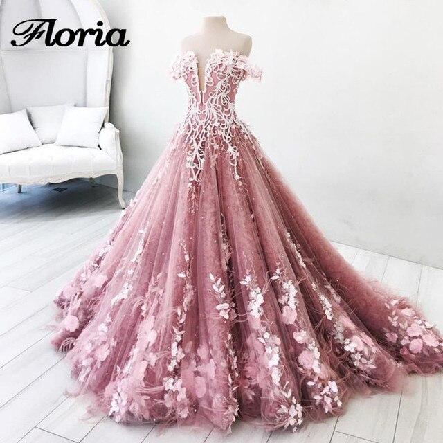 Pink Flower Prom Dress – Fashion dresses ca9e3446d9ef
