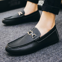 Spring/Autumn Luxury Shoes Men Designer Shoes Leathers Men Casual Fashion Loafers Basic Slip-On Business Shoes Plus Size 38-46 цена