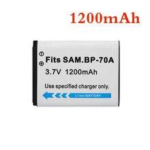 1 шт. 1200 мА/ч, BP-70A BP 70A BP70A Перезаряжаемые Камера Батарея для samsung ES65 ES70 TL105 TL110 PL100 Камера SLB-70A Батарея