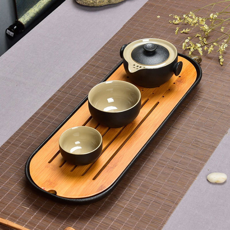 Kung Fu Teaware 1 Pot 2 Cup Ceramic Travel Outdoor Office Drinkware Set Portable Chinese Tea Cups Gaiwan Tea Pot Exquisite Gift