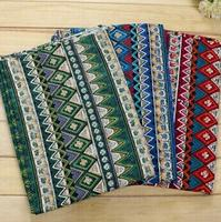 Fashion African Style Vintage Green Red Blue Cotton Linen Fabric Textiles Cotton Linen For Sewing Dress