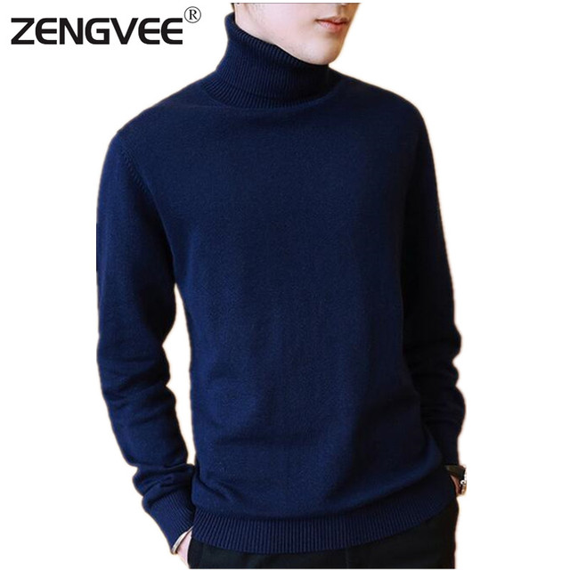 New Arrival Men Winter Warm Turtleneck Pullover Thermal Sweaters Men's Solid design Soft Dress Men Clothing free shipping