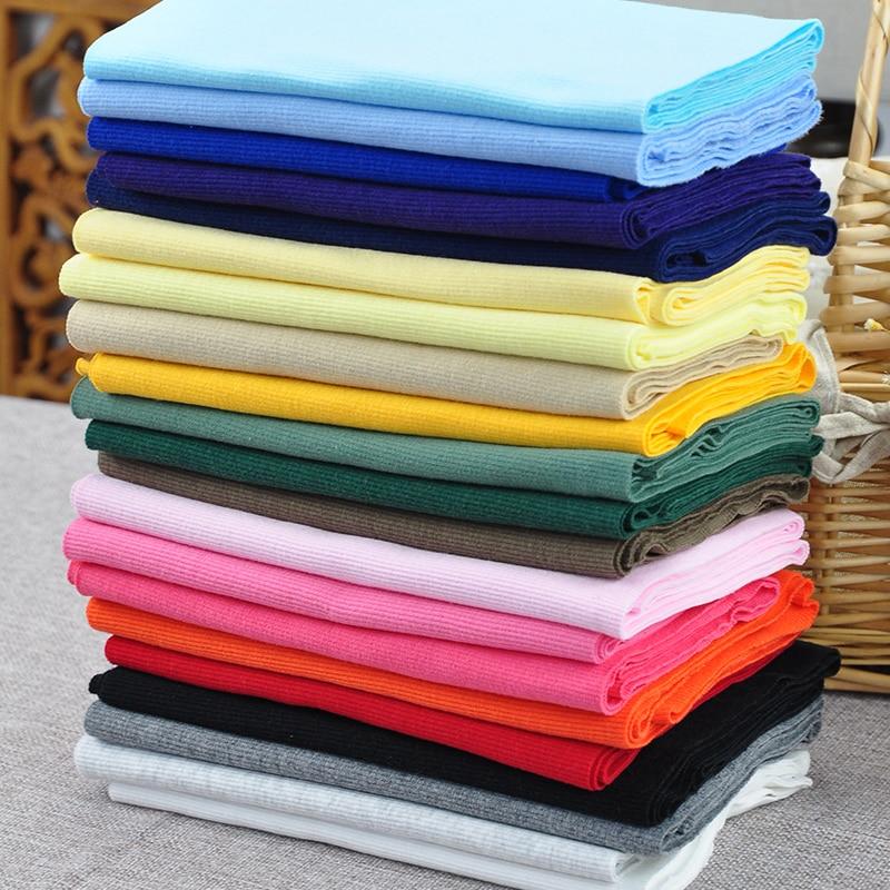 20cm X80cm Cotton Spandex Thread Cuff Neck Fabric High Elasticity Lycra 2*2 Ribbon Fabric