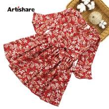 507c2aece57cf31 Artishare/платье для девочек, новинка 2018 года, летнее платье для детей,  цветочный узор, детское платье, повседневная одежда дл.