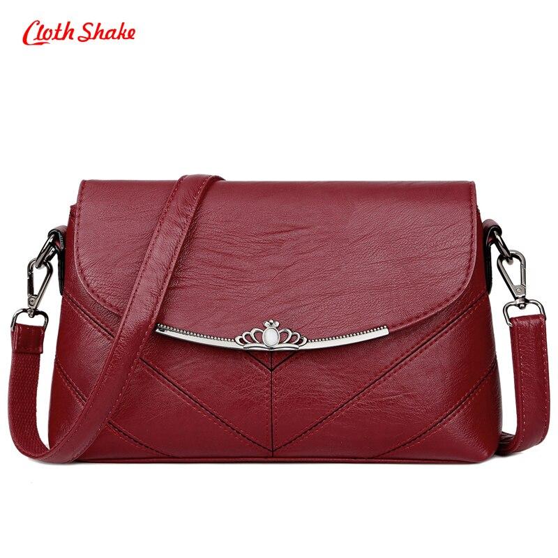 Cloth Shake New Summer casual women bag solid color multifunction versatile fashion soft shoulder bag zipper long straps 4colors
