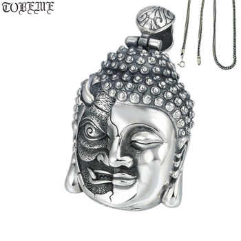 100% 925 Silver Buddha Pendant Necklace Sterling  Demon Pendant Good Luck Tibetan Pendant Necklace - DISCOUNT ITEM  16% OFF All Category