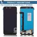 Black Full LCD display + Touch screen digitizer assembly For Vodafone Smart Prime 7 VFD600 Replacement