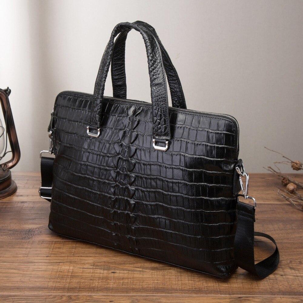 Men Quality Leather Antique Black Business Briefcase 15 Laptop Case Attache Portfolio Bag Tote Shoulder Messenger