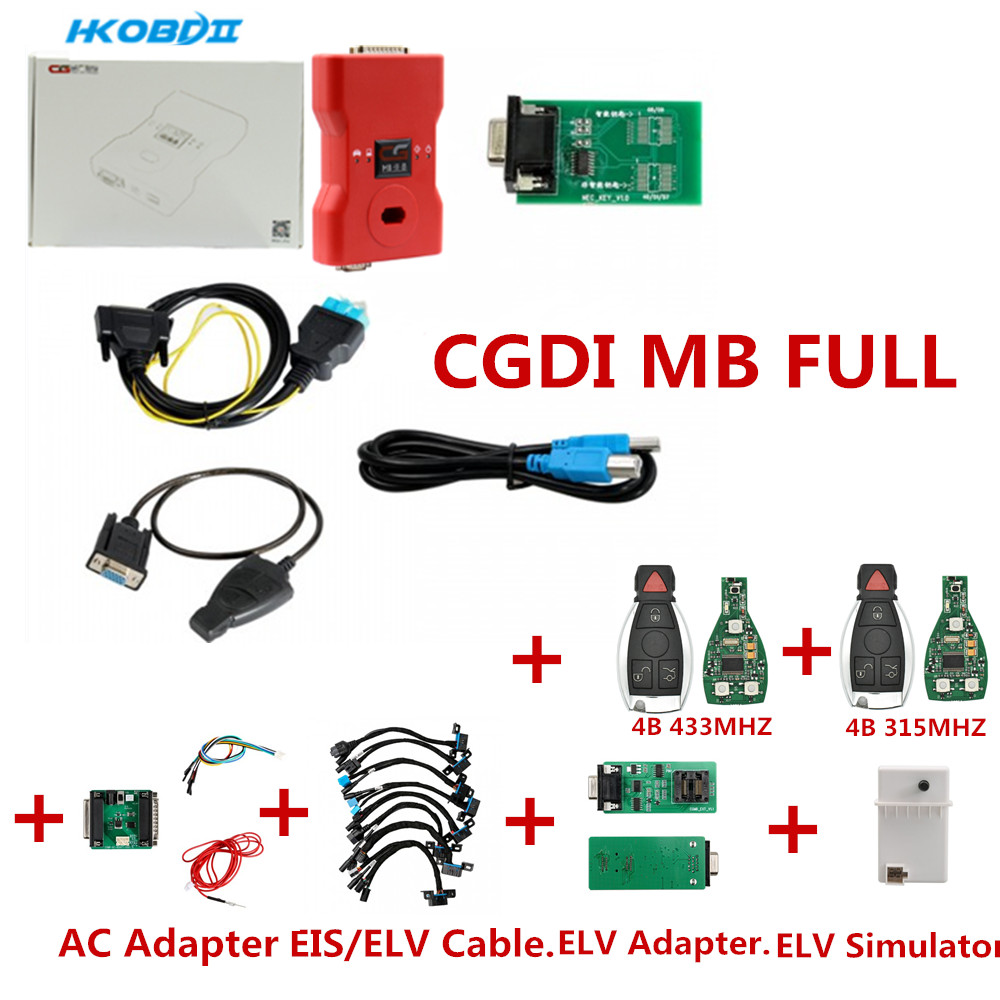 Original CGDI Prog MB Key Programmer Support All Key Lost Fastest Add Key With ELV Adapter
