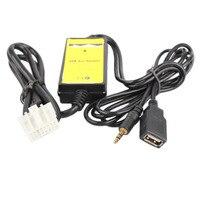 12-24VCar Estilo 3.5mm USB Auto Car Aux Adaptador de Cable de Interfaz de Radio Reproductor de MP3 Cable Fit Para Mazda 3/CX7/323/MX5 CX-7