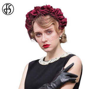 132de06306d62 FS Hats For Women Wedding Fascinator Vintage Ladies Fedora