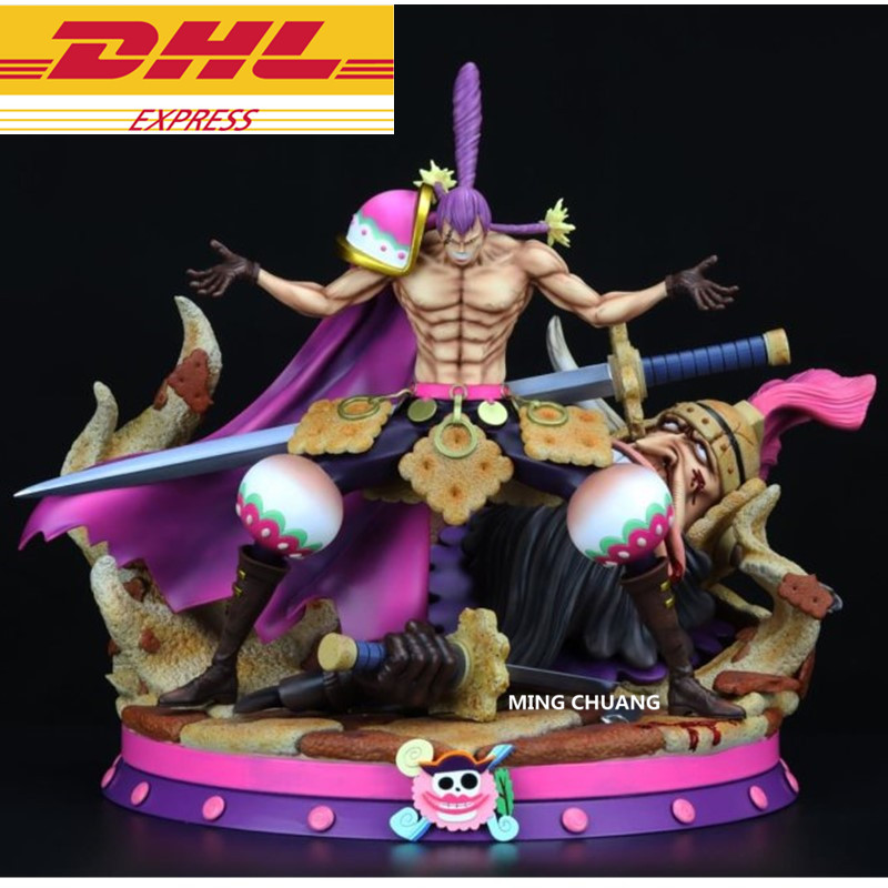 Us 415 72 30 Off 12 One Piece Statue Big Mom Pirates Charlotte Cracker Bust Dessert Three Star Gk Action Figure Collectible Model Toy Box D652 In