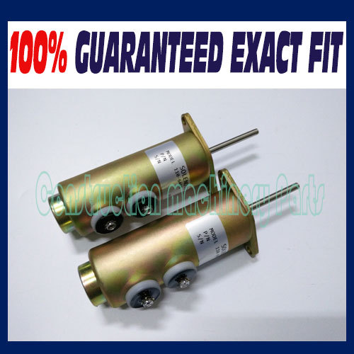 Free fast delivery! (2pcs a lot) FUEL SHUTDOWN STOP SOLENOID VALVE 110-6466 1106466 6T-4121 VOLT 12V wholesale replace fuel shutdown shut off solenoid valve 110 6466 6t 4121 1106 12v466 free fast shipping by tnt dhl fedex ups