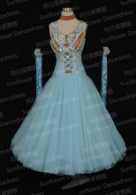 New Style,standard dance dress,ballroom dance competition dresses,womens  dance dress,modern dance skirts,blue color