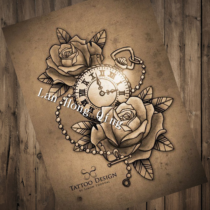vintage tattoos design patterned posters kraft paper interior painting restoring wall decoration. Black Bedroom Furniture Sets. Home Design Ideas