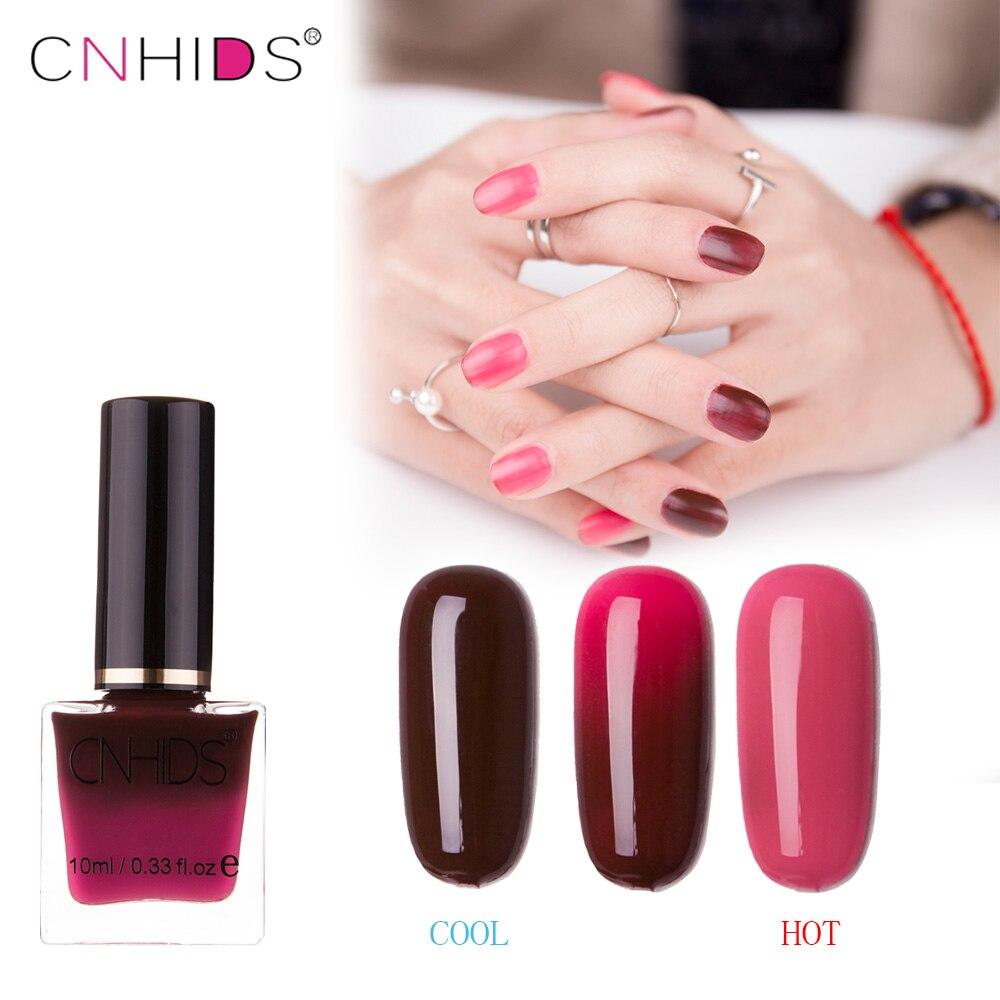 2018 CNHIDS 10 ml Temperature 22 Colors Changing Varnish Thermal Nail Polish Lacquer Manicure Nail Art Polish