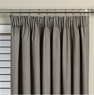 Online Readymade Pencil Pleat Curtains Blockout 3 Pass Coated