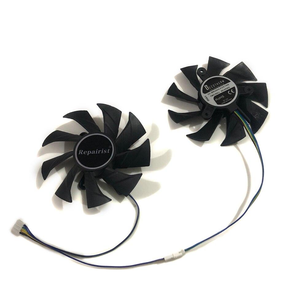 ZT P10710G 10P GTX 1070 Ti Mini GPU Alternative Cooler Fan For ZOTAC ZT P10810G 10P