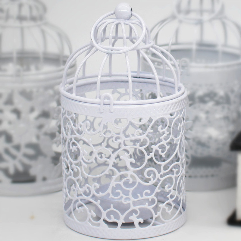 5 Kinds Creative Birdcage Shape Candle Holder Iron Crafts Modern Style Candlestick Gift Home Decoration Dining Decorations Gift in Candle Holders from Home Garden