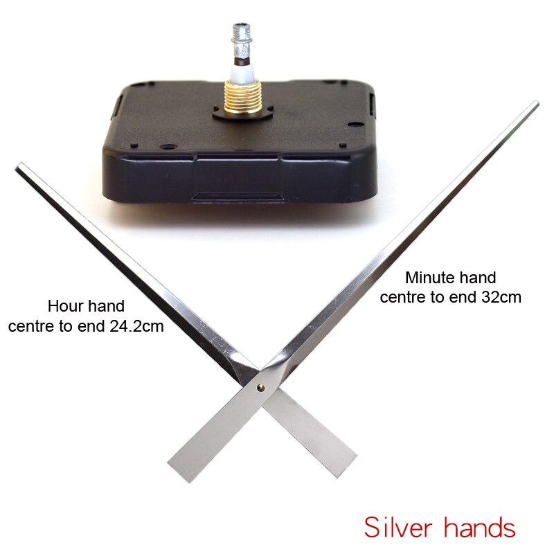 12888SMO Haute Couple je arbre Mouvement Balayage 6mm Vis axe Avec Argent Mains Horloge Accessoire Quartz Mouvement DIY Horloge Kits