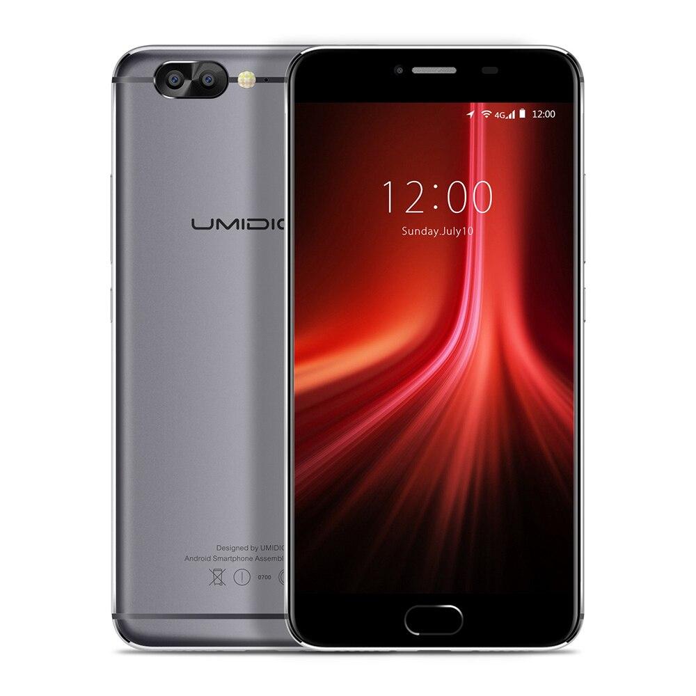 UMIDIGI Z1 Android 7.0 5.5 Inch MTK6757 Octa Core 6GB RAM 64GB ROM 4000mAh Battery Front Touch Sensor Dual Rear Cameras