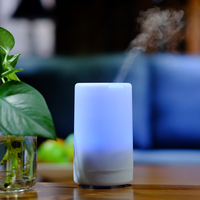 USB Charging Ultrasonic Air Aroma Humidifier With 5 Color LED Lights Electric Aromatherapy Essential Oil Aroma