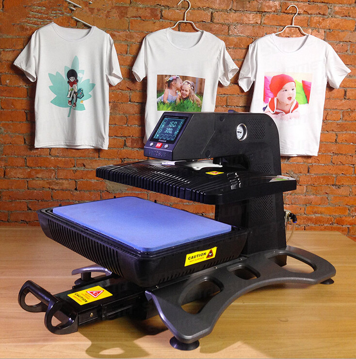 Pneumatic Heat Transfer Machine Automatic 3D Sublimation Heat Press Machine For Phone Case Mugs T-shirt Etc ST-420