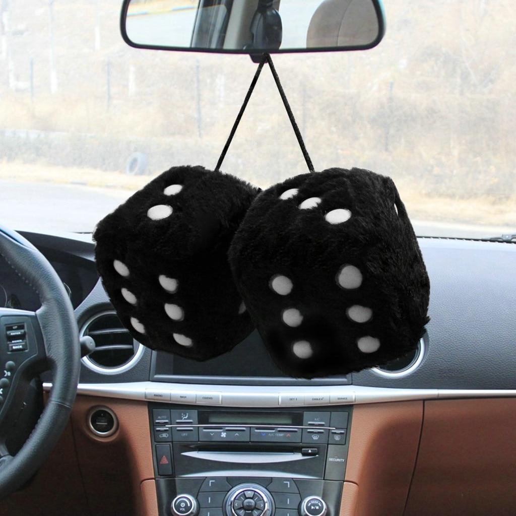 Франшиза, Автомобильные украшения, украшение, плюшевые кости, красочное зеркало, подвеска для автомобиля, подвесная подвеска, аксессуары для украшения дома - Название цвета: Black