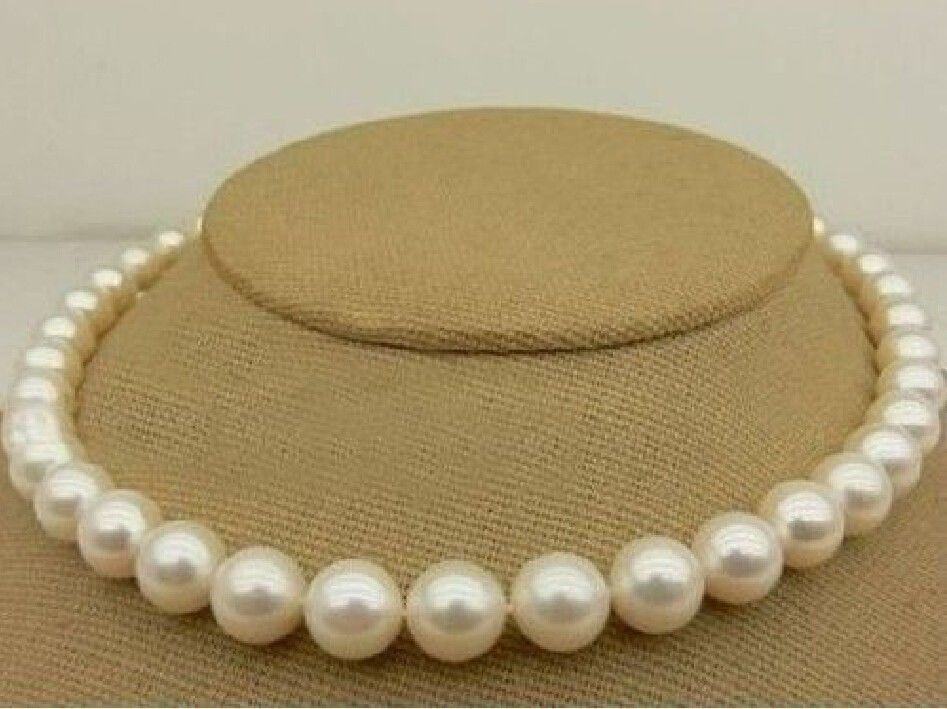 noble women gift Jewelry Silver Clasp Natural 17 HOT AAAA 10-11MM SOUTH SEA NATURAL WHITE PEARL NECKLACE