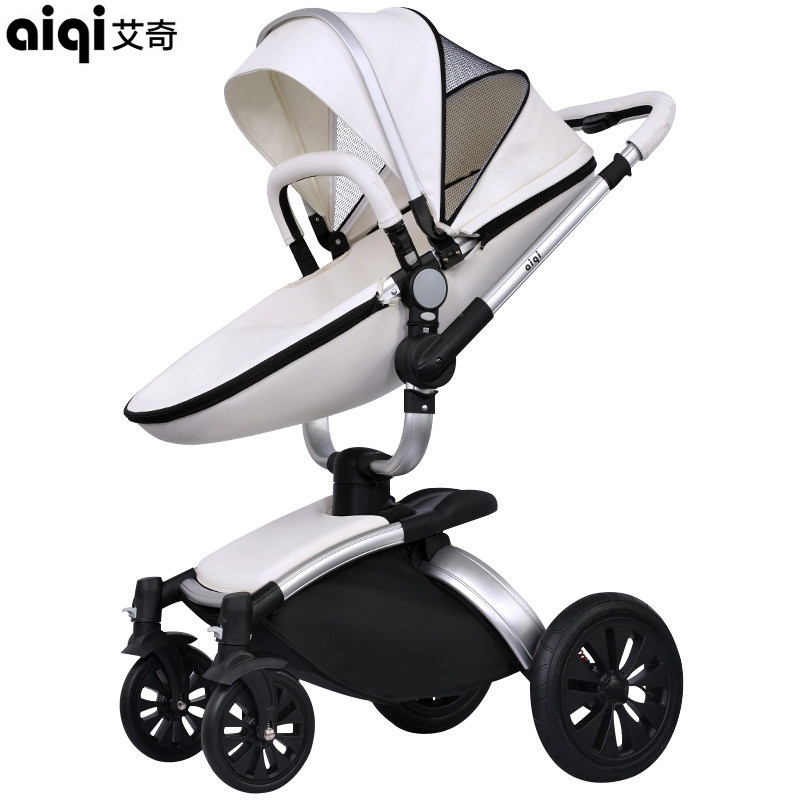 Фото Rushed Aiqi Baby Stroller Pushchair Pram Buggy Sit Flat Foldable Carriage Aluminum Alloy Mop Rotating Pu Leather High Landscape