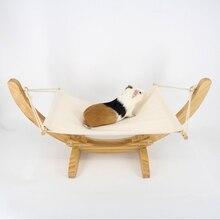 EKO Pelech pre mačku pre malé psy z dreva na leto 4farby