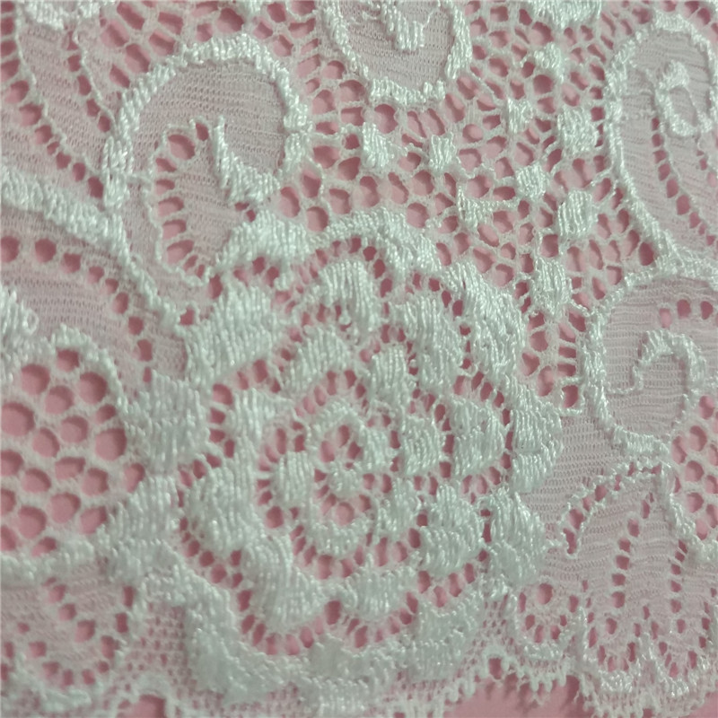 50yards Nylon Spandex Lace 16cm width Stretch lace Fabric Sewing Elastic Scalloped for Clothing Home Decoration