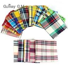 Фирменные повседневные мужские тканые носовые платки из хлопка, клетчатые карманные квадратные мужские носовые платки для свадебной вечеринки