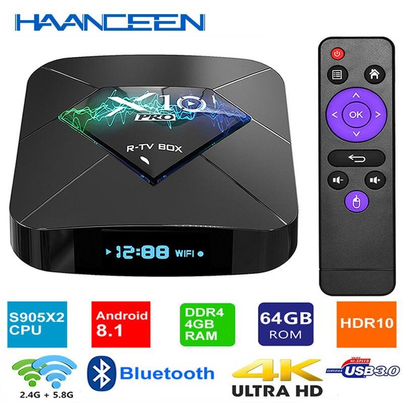 Android 8.1 Smart TV BOX DDR4 4GB/32GB 4GB/64GB S905X2 Quad Core 2.4G/5G Dual WIFI USB3.0 BT4.0 3D 4K HDR Media Player Mini Pc