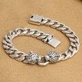 Handmade 925 silver Leopard Bracelet vintage thai silver chain bracelet punk bracelet man jewelry gift