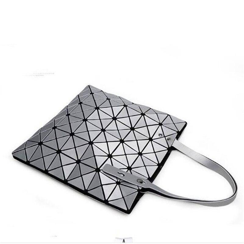 2017 Hot Sale Women Designer Famous Brand Shoulder Handbags Geometric Rhombus Bags for Women bao bao Bag Messenger Bags Silver