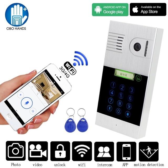 Wired Video Intercom System Wifi Video Doorbell Camera HD 720P ...