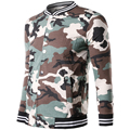 Camouflage Printed Striped Bomber Jackets Men Long Sleeve Slim White Yellow Mens Jacket Fashion Youth Coats 2017 Male Clothing