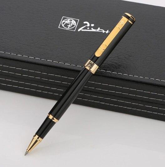 Stylo à bille bille en métal noir Picasso 902, stylo à bille décriture de marque de luxe pour homme, cadeau de noël, haute qualité, papeterie de bureau, A8