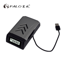 PALO 2019 New 4 Slots USB Battery Charger NC555 LCD Display For AA / AAA NiCd NiMh Rechargeable Batteries