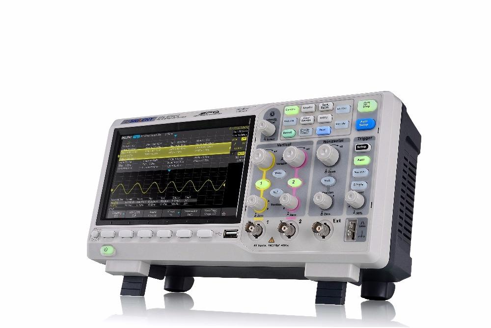Siglent SDS1202X-E 200MHz digital oscilloscope free serial decode 2 Channel 7'' TFT-LCD 1GSa/s Sample color scopemeter FREE SHIP  осциллограф siglent sds1152cml 2 150 1 sa
