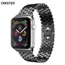 Ремешок из нержавеющей стали для apple watch Группа apple watch 4 3 группа 44 мм 40 мм iwatch Группа 42 мм/38 мм звено браслет ремешок для часов blet